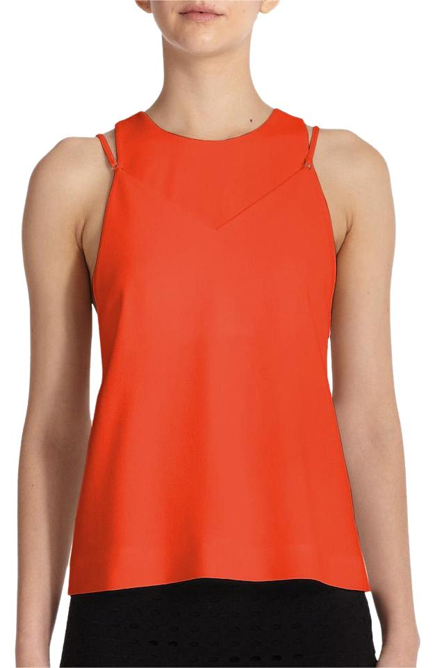 cd504f41014a0 Alexander Wang Orange Illusion Layer Effect Tank Top Cami Size 4 (S ...