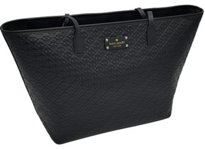 Kate Spade Penn Place Embossed Margareta X-large Tote in Black