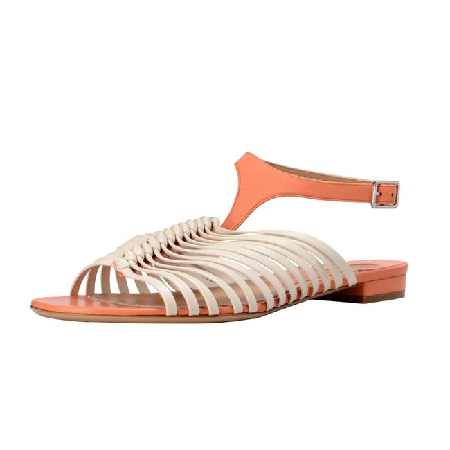 """Item - Beige/ Pink """"Pilly"""" Leather Sandals Size US 6.5 Wide (C, D)"""