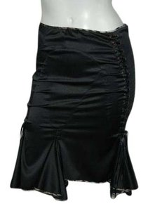 Just Cavalli Tie Up Bustier Style Made In Italy Holiday Skirt Black
