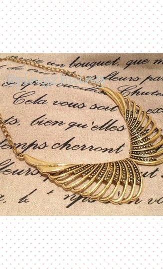Other Vintage Inspired Angel Wings Collar Necklace Image 1