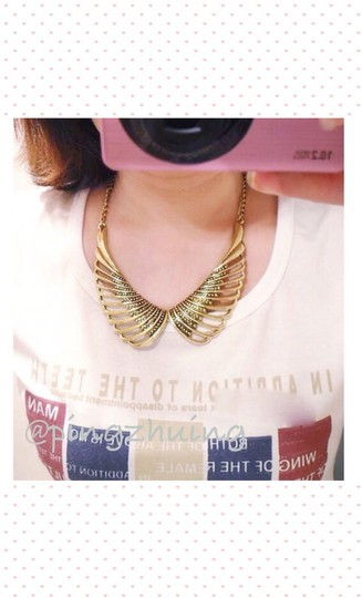 Other Vintage Inspired Angel Wings Collar Necklace Image 2