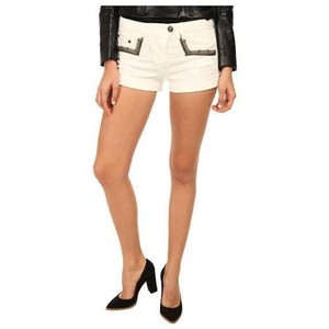Balmain Mini/Short Shorts Ivory, Black