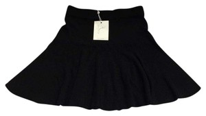 Joie Mini Ultra Mini Black Wool Mini Skirt