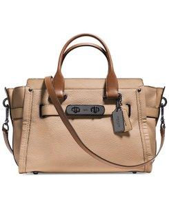 Coach Swagger Carryall Satchel in Beechwood Multi / Dark Antique NIckel