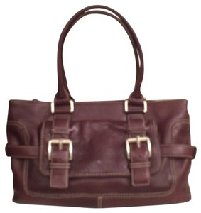 Michael Kors Vintage Design Handbag Leather Satchel in Brown