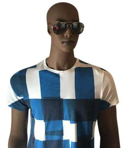 Burberry Brit T Shirt Blue/White/Black
