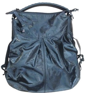 Francesco Biasia Patent Leather Shiny Hobo Bag