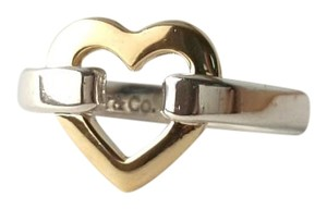 Tiffany & Co. Tiffany And Company Open Heart Ring Made Of 18 Karat Yellow Gold And Sterling Silver. 100% Guaranteed Authentic!! Size 4. Comes With A Tiffany Blue Colored Polishing Cloth!