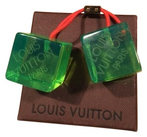 Louis Vuitton Louis Vuitton Limited Edition hair cubes green logo