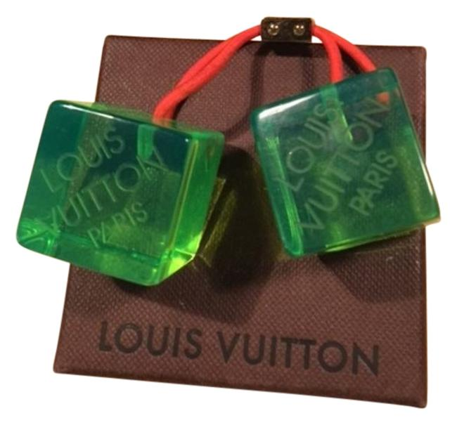 Item - Green Limited Edition Cubes Logo Hair Accessory