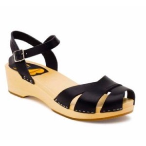 swedish hasbeens Clogs Black Sandals