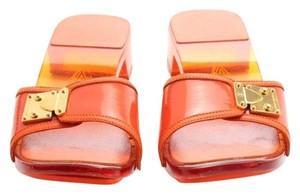 Louis Vuitton Lucite Leather orange Sandals