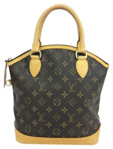 Louis Vuitton Lv Monogram Lockit Vertical Canvas Tote in brown