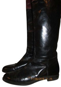Salvatore Ferragamo Black w/Brown band Boots