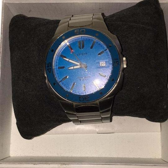 Preload https://img-static.tradesy.com/item/20120744/guess-silver-and-blue-mens-stainless-steal-watch-0-1-540-540.jpg
