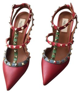 Valentino Red, green, blue and pink Pumps