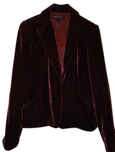 Lafayette 148 New York Velvet Jacket Burgandy/Oxblood Blazer