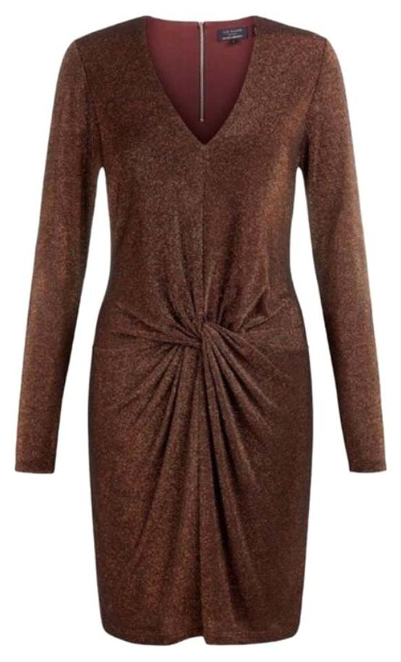 d31c45a62 Ted Baker Copper Lizzey Knee Length Night Out Dress Size 6 (S) - Tradesy