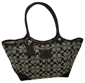 Coach Tote in Black and Gray