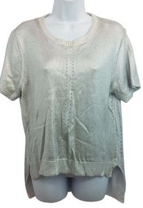 Kenneth Cole Silver Knit Top