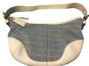 Coach Signature Leather Jacquard Hobo Bag