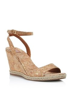 Tory Burch Marion Wedge Gold Flecked Cork Brown, gold Sandals