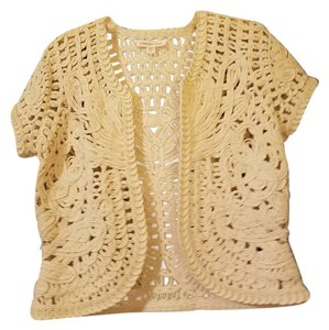 Coldwater Creek Crochet Woven Cardigan