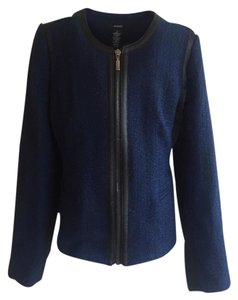 Alfani Light Wool Cute Womens Blue/Black Jacket