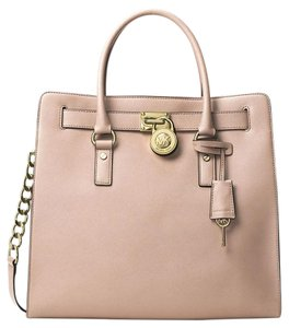 Michael Kors Hamilton Leather Tote in Ballet