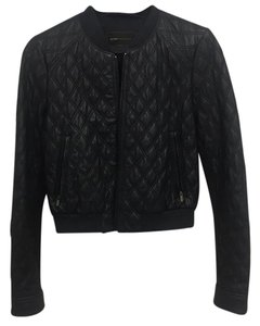 BCBGMAXAZRIA Navy Blue Leather Jacket