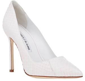 Manolo Blahnik Bb White Pumps