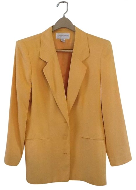 Jones New York Silk Jacket Jonesnewyork Light Weight Size 10 Canary yellow Blazer