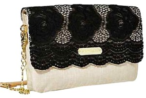 Betsey Johnson Clutch Evening Handbag Night Handbags Gold Handbags Shoulder Bag