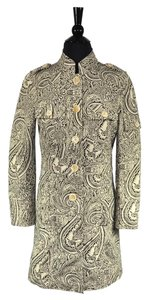 Etro Button Front Paisley Floral Coat