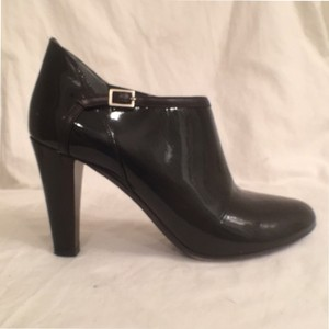 Theory Ankle Leather Patent Leather Blackz Boots