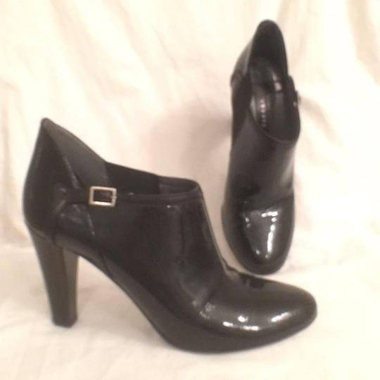 Theory Ankle Leather Patent Leather Pumps Black Boots
