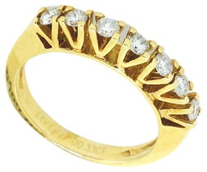 Other 18K Yellow Gold Line Diamonds Ring