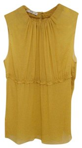 Prada Sheer Top Yellow