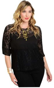 Bluebell Top Black