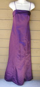 Vera Wang Purple Spaghetti Straps With Cloth Covered Buttons On Back Dress
