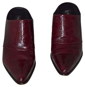 Via Spiga Vintage Made In Italy Boots Burgundy Spazzolato Leather Mules