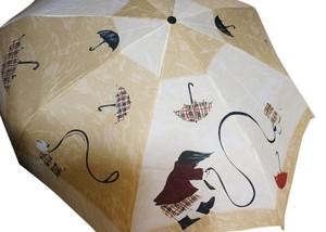 Burberry Burberry Girl + Dog Folding Umbrella