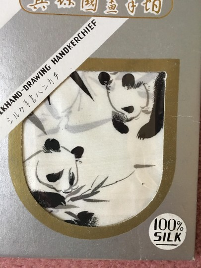 Black and White New--elegant 100 Percent Silk Hand Painted Signed Square