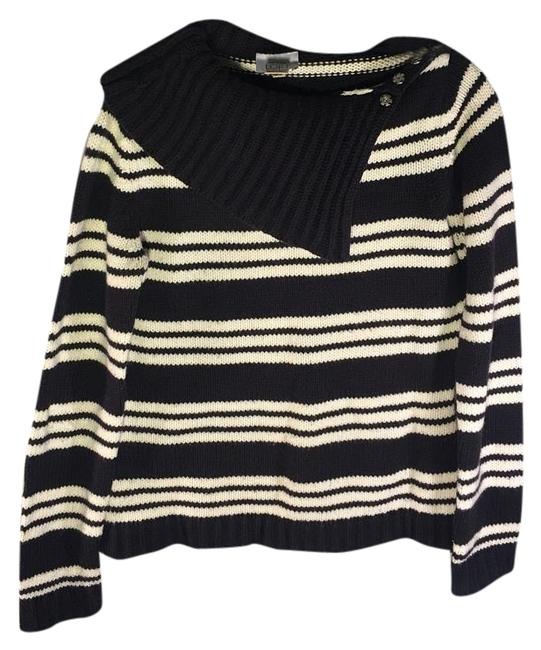Preload https://img-static.tradesy.com/item/20122019/ann-taylor-loft-navy-blue-and-white-sweater-0-1-650-650.jpg