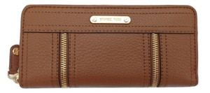 Michael Kors RARE Michael Kors Moxley Luggage Leather Zip Around Continental Wallet
