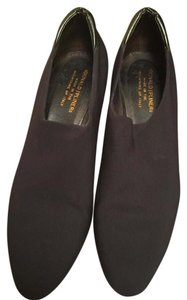 Donald J. Pliner Black Crepe Wedges