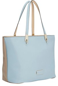 Marc by Marc Jacobs Colorblock Leather Tote in Light Blue / Taupe