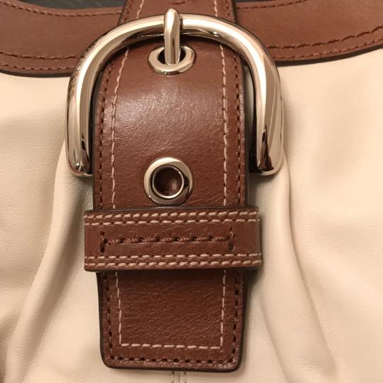 Coach Satchel in White and Brown Image 10