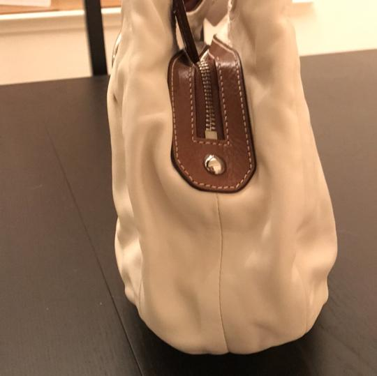 Coach Satchel in White and Brown Image 2